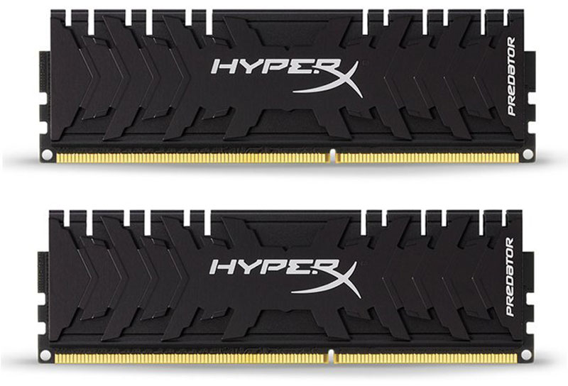Kingston HyperX Predator DDR3 DIMM 8GB (2х4GB) 2400МГц комплект модулей оперативной памяти (HX324C11PB3K2/8) foxline 4 gb ddr3 1600 dimm cl11