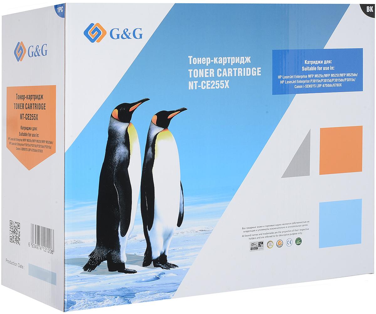 G&G NT-CE255X тонер-картридж для HP LaserJet P3011/P3015/P3016 тонер картридж g