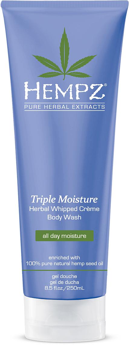 Hempz Гель для душа Тройное Увлажнение Triple Moisture Herbal Body Wash 250 мл hempz гель для душа с ганатом pomegranate body wash 250 мл