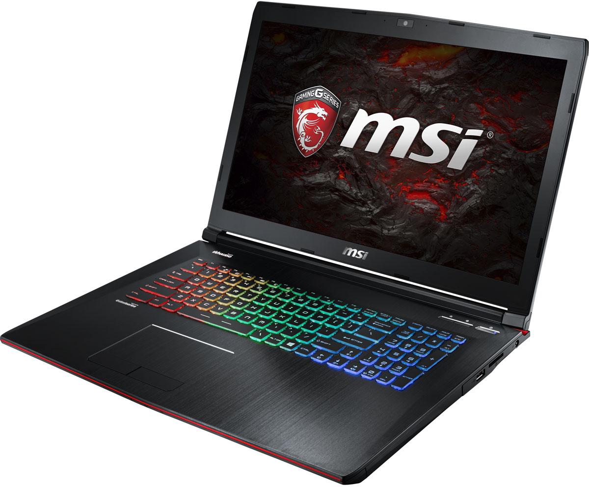 MSI GE72MVR 7RG-057RU Apache Pro, BlackGE72MVR 7RG-057RUКомпания MSI создала игровой ноутбук GE72MVR 7RG Apache Pro с новейшим поколением графических карт NVIDIA GeForce GTX 1070. По ожиданиям экспертов производительность GeForce GTX 1070 должна более чем на 40% превысить показатели графических карт GeForce GTX 900M Series.Благодаря инновационной системе охлаждения Cooler Boost и специальным геймерским технологиям, применённым в игровом ноутбуке, графическая карта новейшего поколения NVIDIA GeForce GTX 1070 сможет продемонстрировать всю свою мощь без остатка. Олицетворяя концепцию Один клик до VR и предлагая полное погружение в игровые вселенные с идеально плавным геймплеем, игровые ноутбуки MSI разбивают устоявшиеся стереотипы об исключительной производительности десктопов. Ноутбуки MSI готовы поразить любого геймера, заставив взглянуть на мобильные игровые системы по-новому.Седьмое поколение процессоров Intel Core серии H обрело более энергоэффективную архитектуру, продвинутые технологии обработки данных и оптимизированную схемотехнику. Производительность Core i7-7700HQ по сравнению с i7-6700HQ выросла в среднем на 8%, мультимедийная производительность - на 10%, а скорость декодирования/кодирования 4K-видео - на 15%. Аппаратное ускорение 10-битных кодеков VP9 и HEVC стало менее энергозатратным, благодаря чему эффективность воспроизведения видео 4K HDR значительно возросла.Запускайте игры быстрее других благодаря потрясающей пропускной способности PCI-E Gen 3.0x4 с поддержкой технологии NVMe на одном устройстве M.2 SSD. Используйте потенциал твердотельного диска Gen 3.0 SSD на полную. Благодаря оптимизации аппаратной и программной частей достигаются экстремальный скорости чтения до 2200 МБ/с, что в 5 раз быстрее твердотельных дисков SATA3 SSD.Вы сможете достичь максимально возможной производительности вашего ноутбука благодаря поддержке оперативной памяти DDR4-2400, отличающейся скоростью чтения более 32 Гбайт/с и скоростью записи 36 Гбайт/с. Возросшая на 40% произ