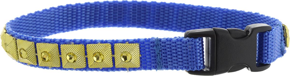 Ошейник для животных GLG Египетская сила, ширина 1 см, обхват шеи 22 смOH17/A_синий, золотойОшейник для животных GLG Египетская сила с оригинальным дизайном изготовлен из нейлона и высококачественного пластика. Сверхпрочные нити делают ошейник надежным и долговечным. Ошейник отличается высоким качеством, удобством и универсальностью.Обхват шеи: 22 см. Ширина ошейника: 1 см.