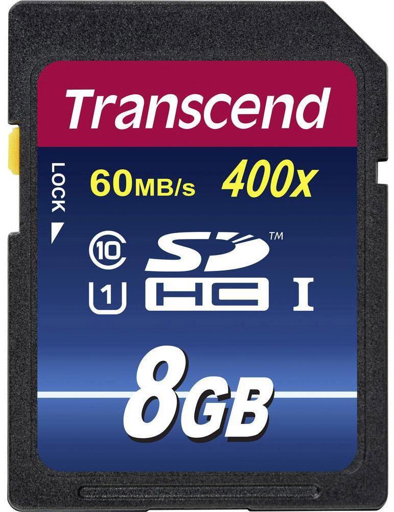 Transcend Premium SDHC Class 10 UHS-I 400x 8GB карта памяти