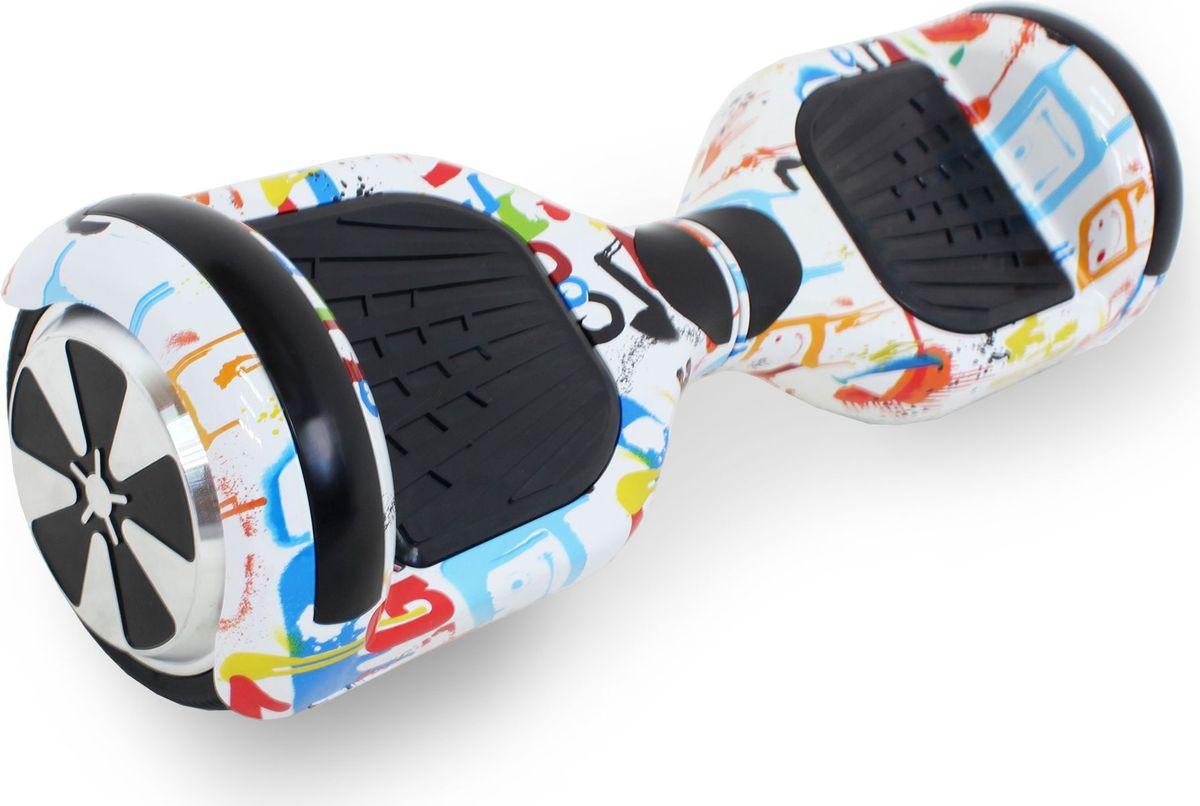 Гироскутер Hoverbot A-3 LED Light, цвет: White Multicolor (белое граффити)GA3LWMLEDГироскутер Hoverbot А-3 LED Light это абсолютно новое и самое современное устройство в классе 6,5 колёс. Данный гаджет оснащен очень мощным мотором и высокочувствительными датчиками. Такое сочетание характеристик дало возможность вашему А-3 LED Light шустро ездить по дорогам даже при максимальной нагрузке 120 кг. При производстве мы используем только самые качественные комплектующие известных производителей. Яркая и разноцветная LED подсветка на крыльях сделает вас заметным при езде в темное время суток, осветит путь, а так же выделит вас в любой тусовке. Так же Гироскутер оснащен Bluetooth технологией и очень хорошей колонкой для прослушивания любимой музыки на полную мощность!!! Такая модель как Hoverbot A-3 LED Light идеально подойдёт как для профессионалов, так и для начинающих райдеров. В комплекте идет сумка для переноски устройства и имеется пульт управления, для более удобного использования. Теперь вы всегда будете ярко выделяться, используя Гироскутер Hoverbot А-3 LED Light, а также сможете насладиться любимой музыкой в дороге.