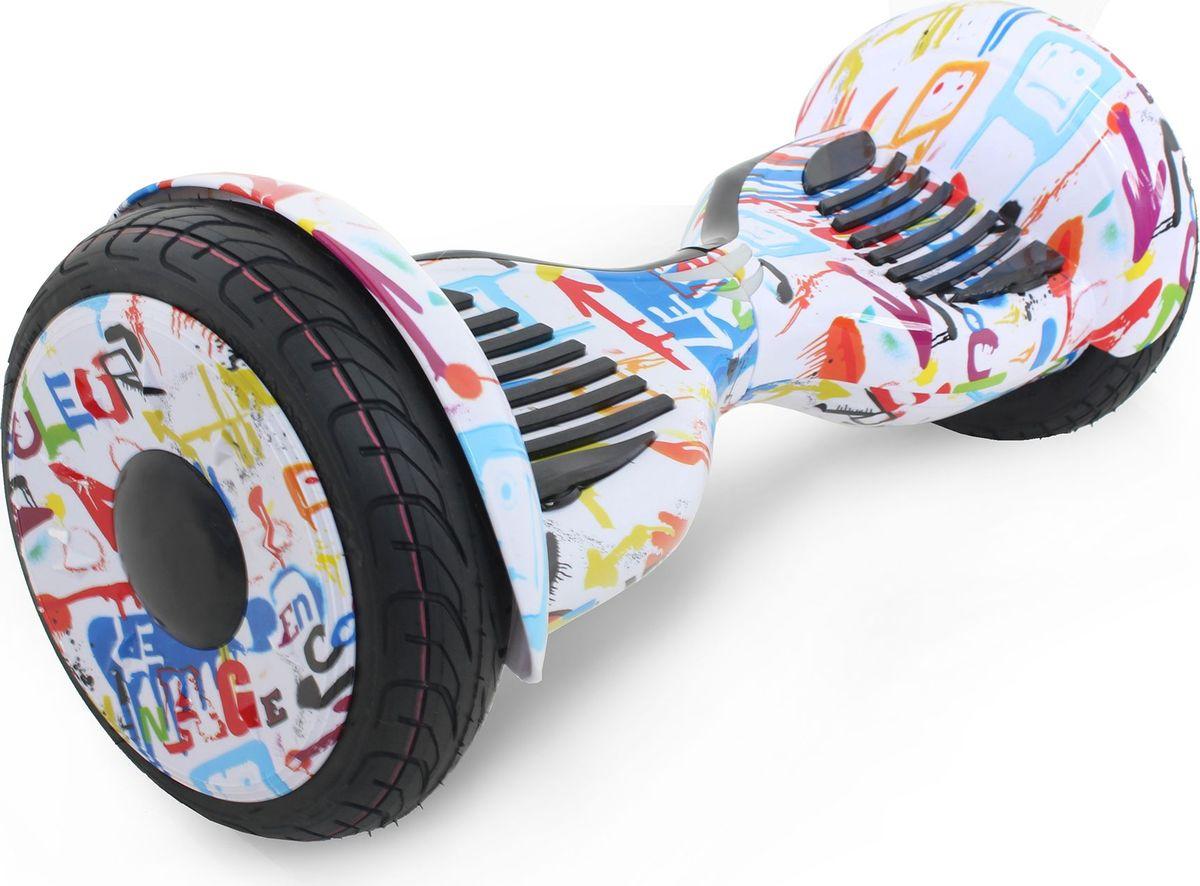 Гироскутер Hoverbot C-2 Light, цвет: White Multicolor (белое граффити)GC2LWMHoverbot C-2 LIGHT - упрощенная модель гироскутера с 10 дюймовымиколесами. Такой размер обеспечивает лучшую проходимость по неровномуасфальту и легкому бездорожью. Для тех, кто любит яркие поездки,гироскутер оснащен светодиодными фарами и Bluetooth-передатчиком.Подключитесь к своему гаджету и слушайте любимую музыку черезвстроенные колонки. Разнообразьте свои прогулки!