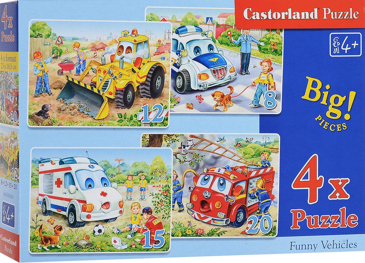 Castorland Пазл 4 в 1 Транспорт