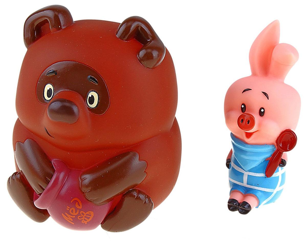 Союзмультфильм Набор игрушек для ванной Винни-Пух и Пятачок