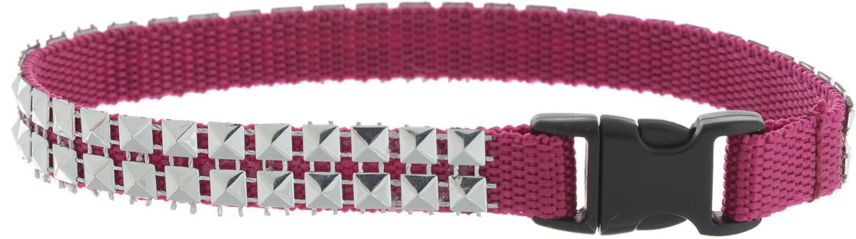 Ошейник для животных GLG Мини Стайл, ширина 1 см, обхват шеи 28 смOH16/C_малиновый, серебристыйОшейник для животных GLG Мини Стайл, изготовленный из нейлона и высококачественного пластика, декорирован металлическими клепками. Сверхпрочные нити делают ошейник надежным и долговечным. Ошейник отличается высоким качеством, удобством и универсальностью.Обхват шеи: 28 см. Ширина ошейника: 1 см.