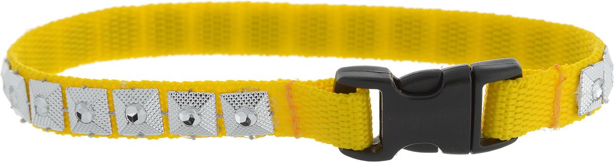 Ошейник для животных GLG Египетская сила, цвет: желтый, серебристый, ширина 1 см, обхват шеи 25 смOH17/B_желтый, серебристыйОшейник для животных GLG Египетская сила с оригинальным дизайном изготовлен из нейлонаи высококачественного пластика. Сверхпрочные нити делают ошейникнадежным идолговечным.Ошейник отличается высоким качеством,удобством и универсальностью. Обхват шеи: 25 см.Ширина ошейника: 1 см.