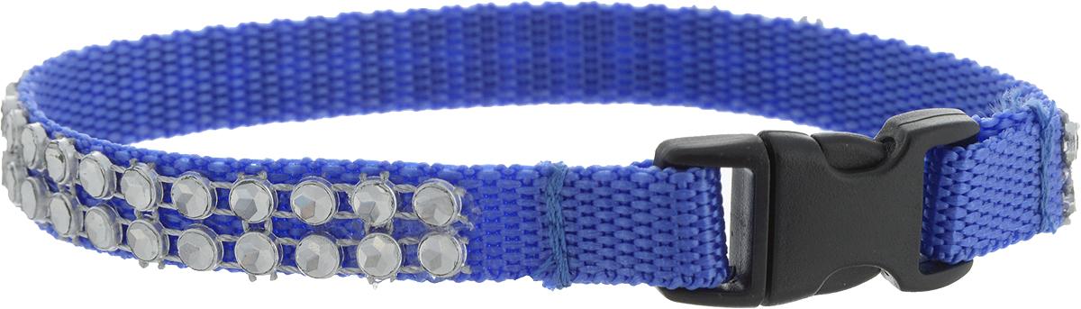 Ошейник для животных GLG Тесьма из клепок, цвет: синий, серебристый, ширина 1 см, обхват шеи 25 смOH03/B_синий, серебристыйОшейник для животных GLG Тесьма из клепок, изготовленный из нейлона и высококачественного пластика, декорирован металлическими клепками. Сверхпрочные нити делают ошейник надежным и долговечным. Ошейник отличается высоким качеством, удобством и универсальностью.Обхват шеи: 25 см. Ширина ошейника: 1 см.