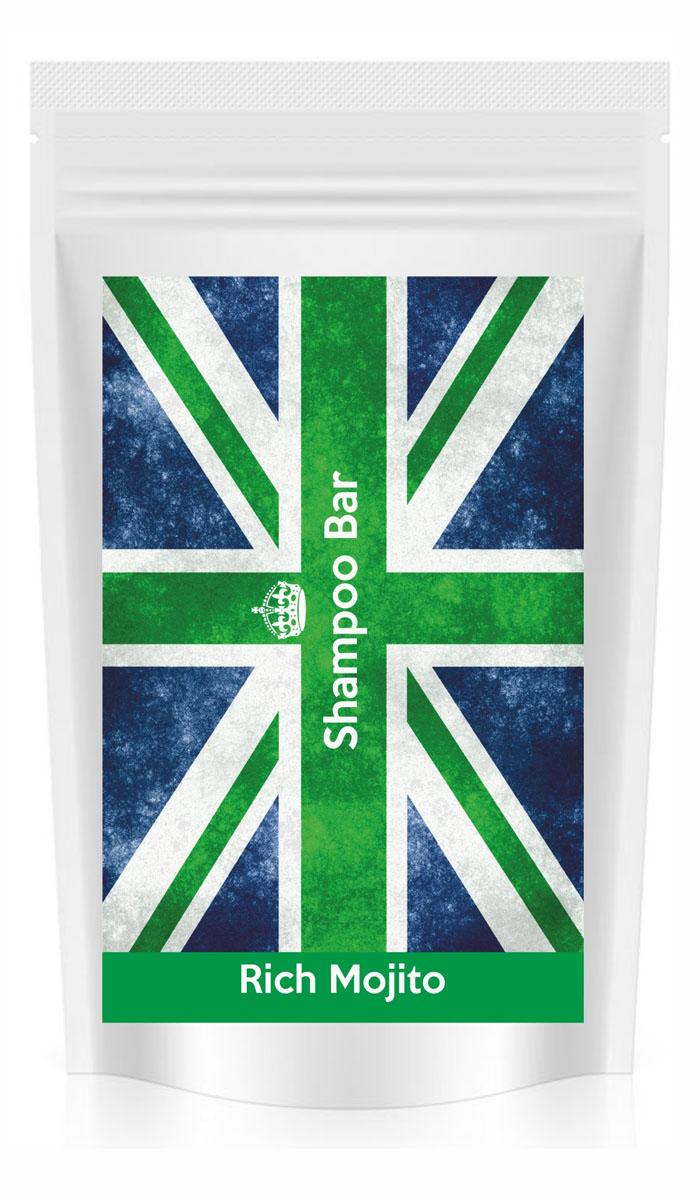 Shampoo Bar Твердый шампунь-объем 6в1 Rich Mojito, с лаймом и мятой, 80 грSB RMВзрыв свежести, мятно-цитрусовый аромат, тающая текстура и невероятный объем - все это твердый шампунь Rich Mojito! Драгоценные масла ши, арганы и кокоса в сочетании с эфирными маслами лайма и перечной мяты, экстрактами трав и витаминами. Настоящий коктейль из пользы и удовольствия.