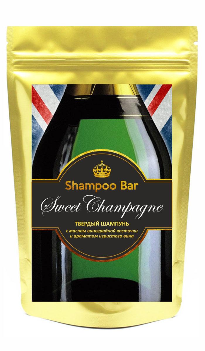 Shampoo Bar Твердый шампунь-объем 6в1 Sweet Champagne, с маслом виноградной косточки, 80 гр