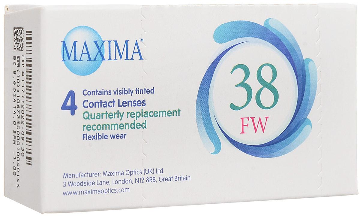 Maxima контактные линзы 38 FW (4 шт / 8.6 / -1.00)