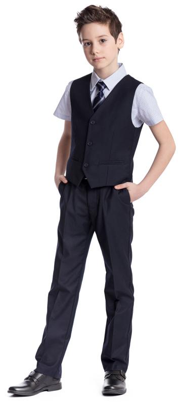Галстук для мальчика Scool, цвет: темно-синий, серый. 363056. Размер универсальный363056Классический галстук Scool изготовлен из полиэстера. Модель оформлена полосками.