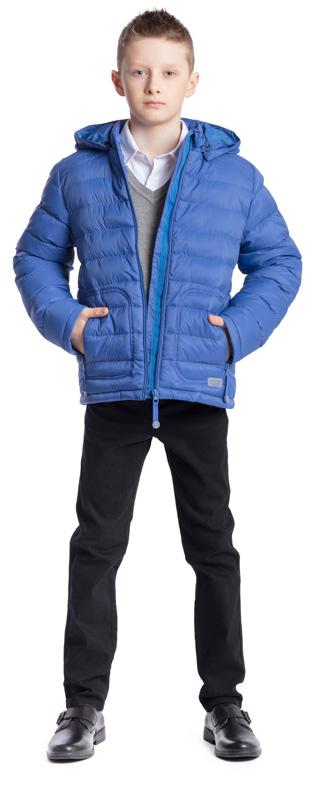 Куртка для мальчика Scool, цвет: синий. 373405. Размер 146, 11 лет373405Практичная утепленная куртка Scool изготовлена из ткани со специальной водоотталкивающей пропиткой. Куртка с капюшоном застегивается на молнию с защитой подбородка. Капюшон дополнен по краю резинкой, пристегивается к куртке с помощью кнопок. Спереди расположены два кармана на молнии. Светоотражающие элементы на рукаве и по низу изделия обеспечат безопасность ребенка в темное время суток.