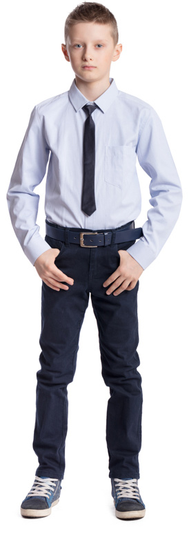 Рубашка для мальчика Scool, цвет: голубой. 373439. Размер 146, 11 лет373439Рубашка для мальчика Scool изготовлена из хлопка и полиэстера. Лекало этой модели полностью повторяет лекало модели для взрослого мужчины. Рубашка с отложным воротником и длинными рукавами застегивается на пуговицы. На груди расположен накладной карман. На рукавах предусмотрены манжеты с застежками-пуговицами. Модель хорошо сочетается с костюмом в деловом стиле и джинсами.