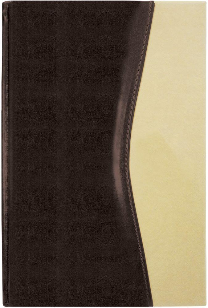 Brauberg Ежедневник De Luxe недатированный 160 листов цвет коричневый бежевый формат A5 maestro de tiempo ежедневник novela недатированный 288 листов цвет черный формат a5