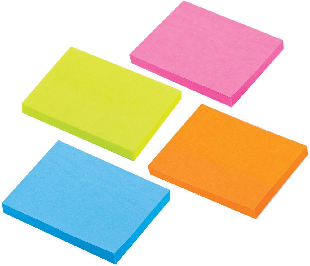 Brauberg Бумага для заметок с липким слоем 3,8 х 5,1 см 4 шт по 50 листов brauberg бумага для заметок с липким слоем линованая 60 листов