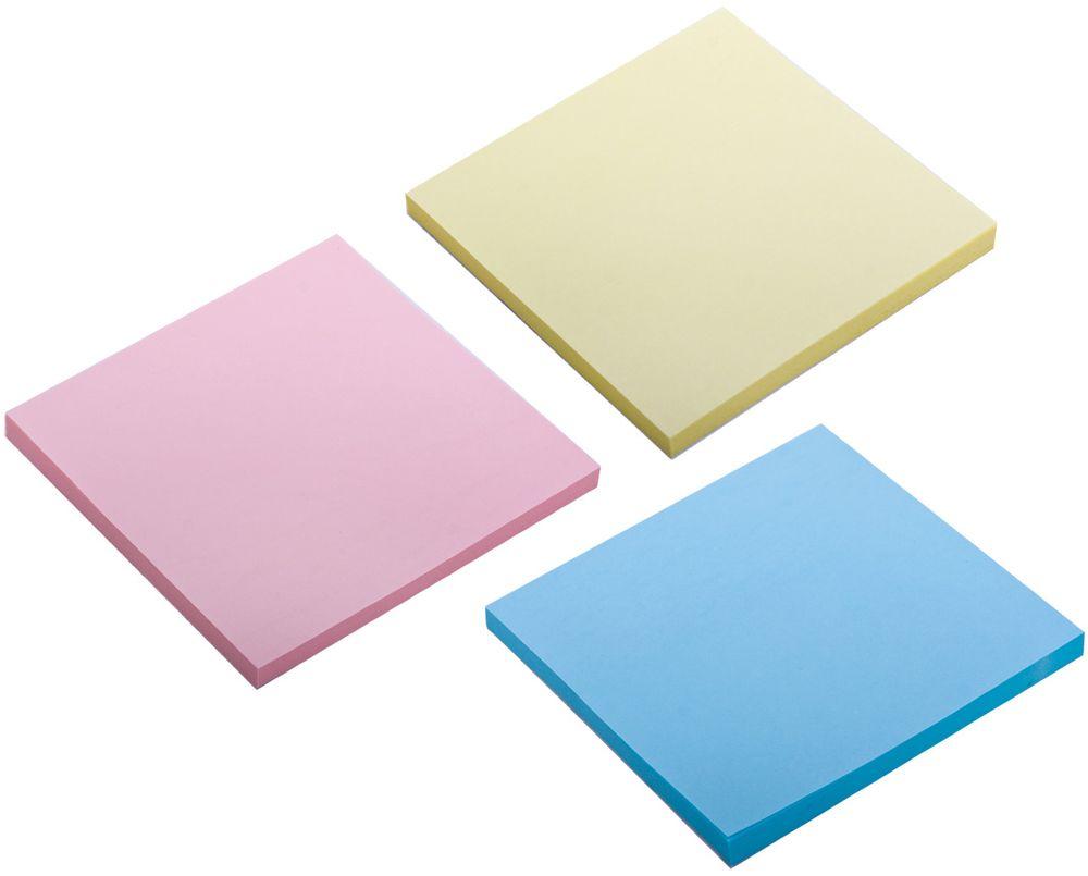 Brauberg Бумага для заметок с липким слоем 7,6 х 7,6 см 3 шт по 50 листов 124808 brauberg бумага для заметок с липким слоем линованая 60 листов
