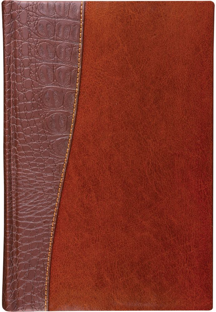 Brauberg Ежедневник Cayman недатированный 160 листов цвет коричневый формат A5125084Недатированный ежедневник BraubergCayman - обладает составляющими премиум класса: обложка - изысканная комбинация гладкой глянцевой кожи и материала, имитирующего кожу крокодила, внутренний блок - тонированная бумага с позолоченным боковым срезом.Особенности: — Закладка-ляссе.— Перфорация угла.— Обширный справочный материал.— Обложка подходит для горячего тиснения.
