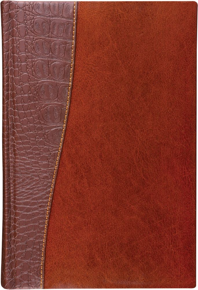 Brauberg Ежедневник Cayman недатированный 160 листов цвет коричневый формат A6125103Недатированный ежедневник BraubergCayman - обладает составляющими премиум класса: обложка - изысканная комбинация гладкой глянцевой кожи и материала, имитирующего кожу крокодила, внутренний блок - тонированная бумага с позолоченным боковым срезом.Особенности: - Закладка-ляссе.- Перфорация угла.- Обширный справочный материал.- Обложка подходит для горячего тиснения.