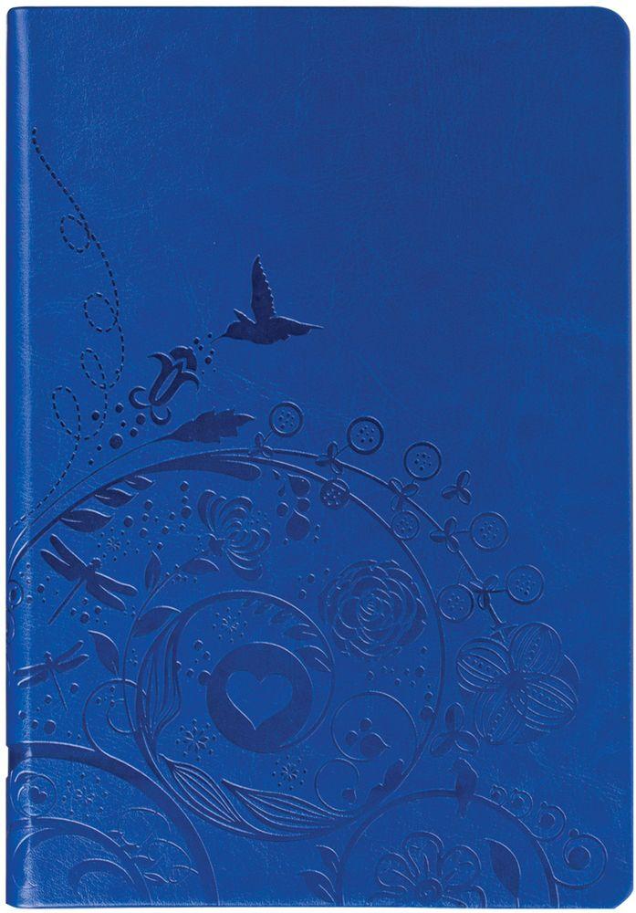 Brauberg Блокнот Feelings 128 листов в линейку цвет синий 125237125237Блокнот Brauberg Feelings - это бизнес-тетрадь с чувственным дизайном. Картина райского сада оживает в руках благодаря материалу с термоэффектом. Блокнот содержит 128 листов кремовой бумаги формата А5 с разметкой в линейку.