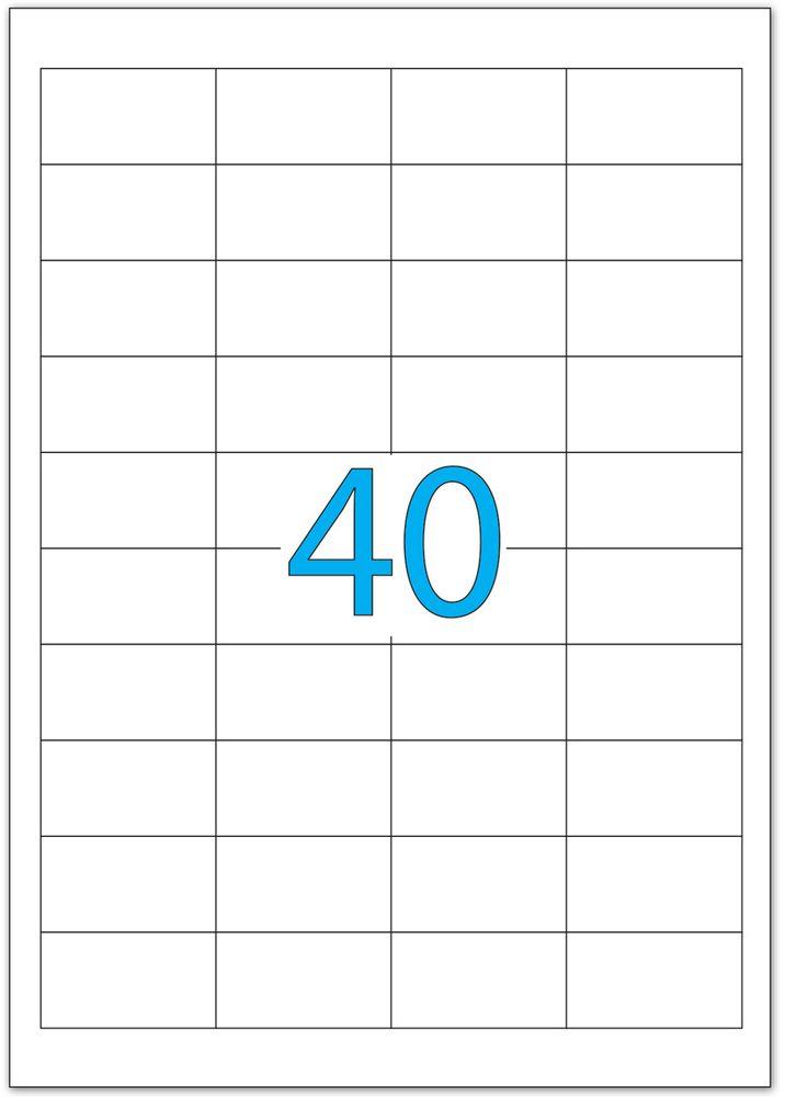 Brauberg Этикетка самоклеящаяся 2,5 х 4,8 см 40 шт х 50 листов126472Самоклеящиеся этикетки Brauberg позволят быстро и качественно подготовить адресные наклейки, регистрационные номера, аннотации при помощи лазерного или струйного принтера. Совместимы со всеми видами офисной техники. В комплект входят 50 листов, на каждом из которых расположено 40 этикеток.