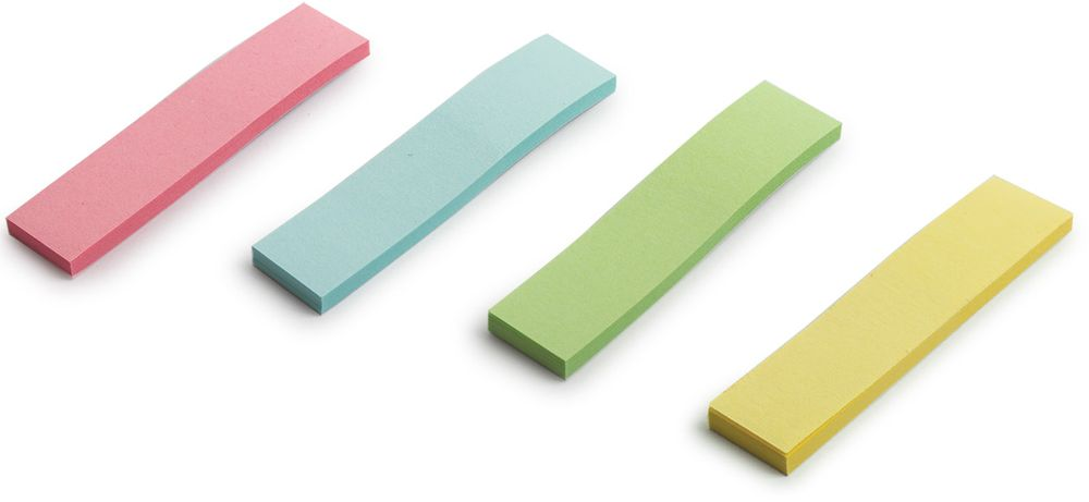 Staff Закладка с липким слоем 1,2 х 5 см 4 шт x 25 листов127147Закладки Staff предназначены для большого объема работы с книгами, журналами, каталогами, документами.