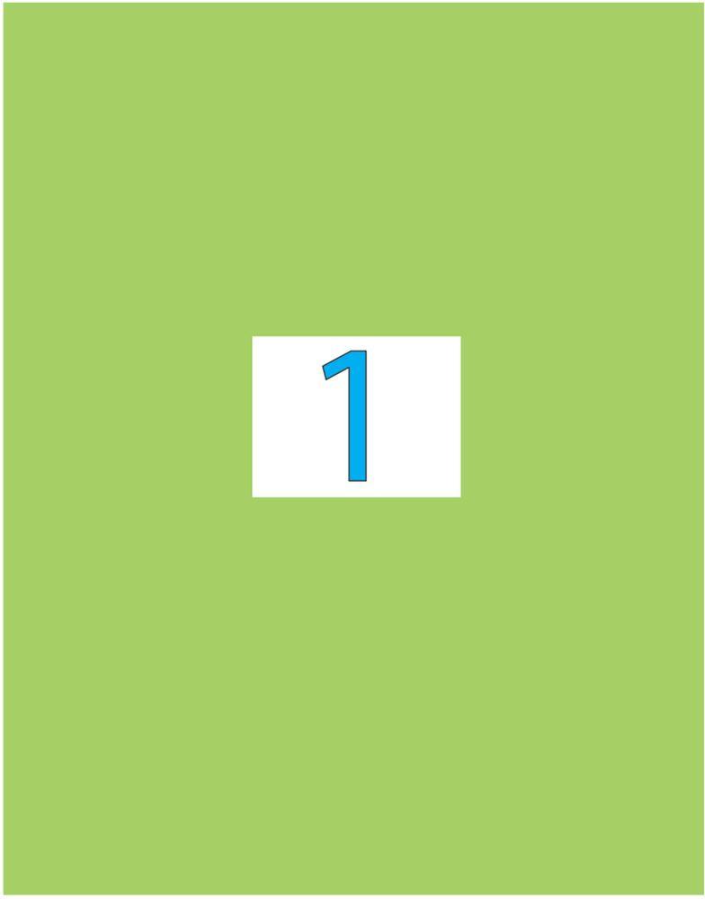Brauberg Этикетка самоклеящаяся 21 х 29,7 см цвет зеленый 50 листов -