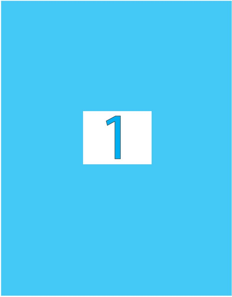 Brauberg Этикетка самоклеящаяся 21 х 29,7 см цвет голубой 50 листов -