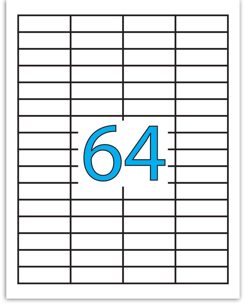 Brauberg Этикетка самоклеящаяся 1,7 х 4,8 см 64 шт х 50 листов127520Самоклеящиеся этикетки Brauberg позволят быстро и качественно подготовить адресные наклейки, регистрационные номера, аннотации при помощи лазерного или струйного принтера. Совместимы со всеми видами офисной техники. В комплект входят 50 листов, на каждом из которых расположено 64 этикетки.