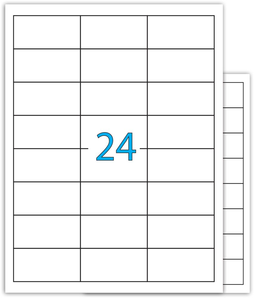 Brauberg Этикетка самоклеящаяся 3,7 х 7 см 24 шт х 100 листов -