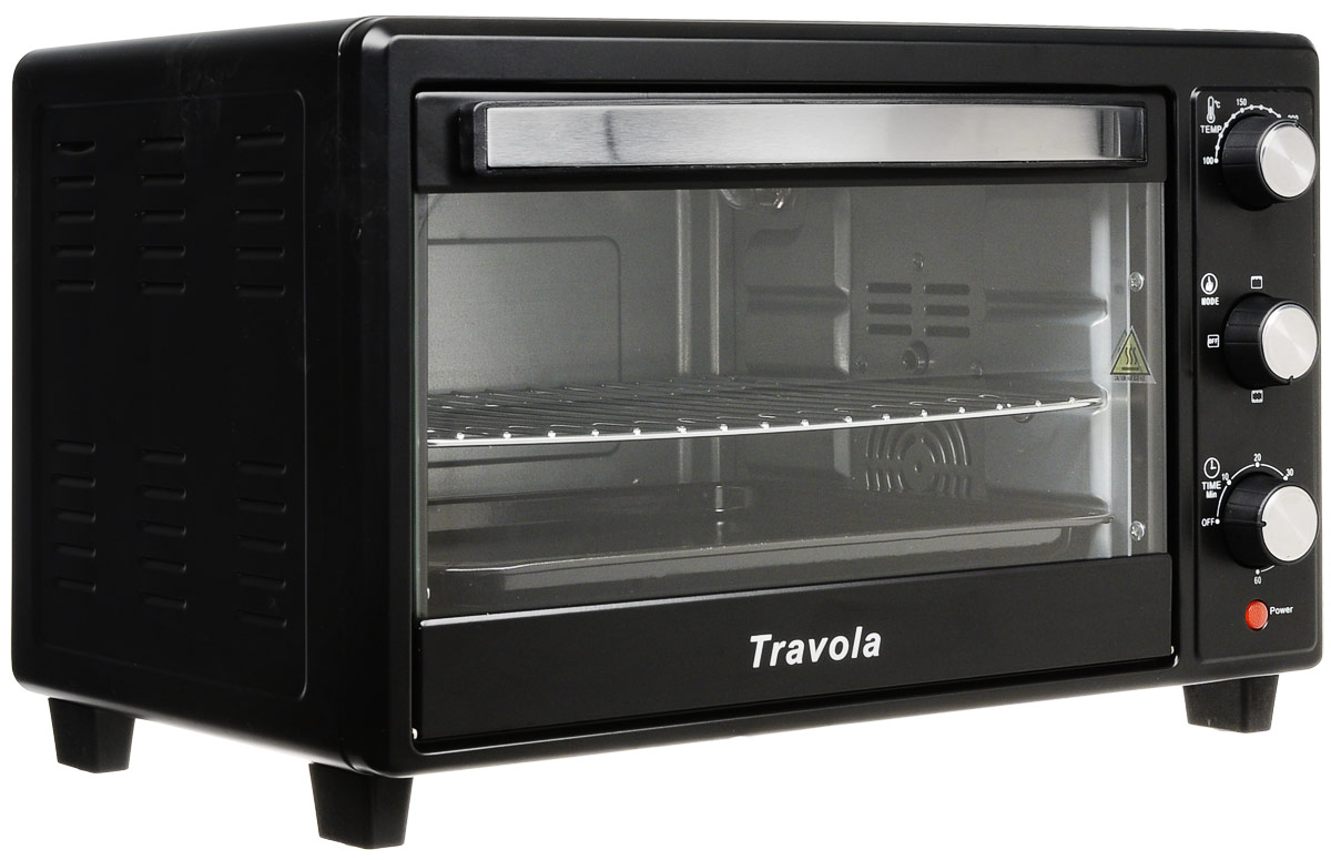 Travola KYS-C30 мини-печьKYS-C30Мини-печь Travola KYS-C30 станет незаменимым помощником на кухне и поможет приготовить множество разнообразных блюд. Несмотря на свой компактный размер, модель обладает высокой мощностью - 1600 Вт.Для управления мини-печью используются удобные механические переключатели. Создатели предусмотрели таймер отключения, рассчитанный на 60 минут, с его помощью можно устанавливать время приготовления блюда.Световой индикатор покажет владельцу, что прибор включен и готов к использованию. Также предусмотрен звуковой сигнал, сообщающий о том, что сработал таймер отключения.Размеры противня - 35.6x29см