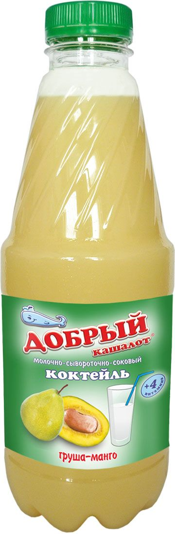 Добрый кашалот коктейль молочно-соковый груша, манго, 930 мл добрый кашалот коктейль молочно соковый киви ананас 6 шт по 0 25 л