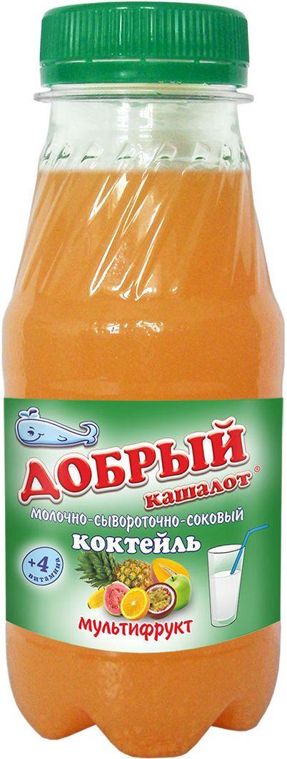 Добрый кашалот коктейль молочно-соковый мультифрукт, 6 шт по 0,25 л