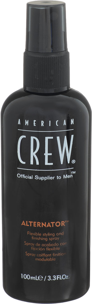 American Crew Спрей для волос Alternator 100 мл7208187000American Crew lternator Спрей для волос разработан и создан специально для лёгкого и удобного изменения причёски в любое время дня. Данное средство быстро смывается с помощью шампуня, имеет не липкую структуру, поэтому прекрасно подходит для ежедневного применения. Спрей для волос Американ Крю Alternator предназначен для умеренной фиксации волос, что позволяет корректировать причёску прямо при помощи рук и в любой удобный момент. Особые компоненты, входящие в состав спрея American Crew Alternator придают волосам мягкость, послушность, при этом не вызывая их сухость и повреждения, не раздражая кожу головы, а также обеспечивая причёске блеск и естественный здоровый цвет.Достаточно одиночного нанесения спрея Alternator для того, чтобы выполнять необходимый рейсталинг причёски в течении дня.Степень фиксации: умеренная фиксация.Уважаемые клиенты!Обращаем ваше внимание на возможные изменения в дизайне упаковки. Качественные характеристики товара остаются неизменными. Поставка осуществляется в зависимости от наличия на складе.