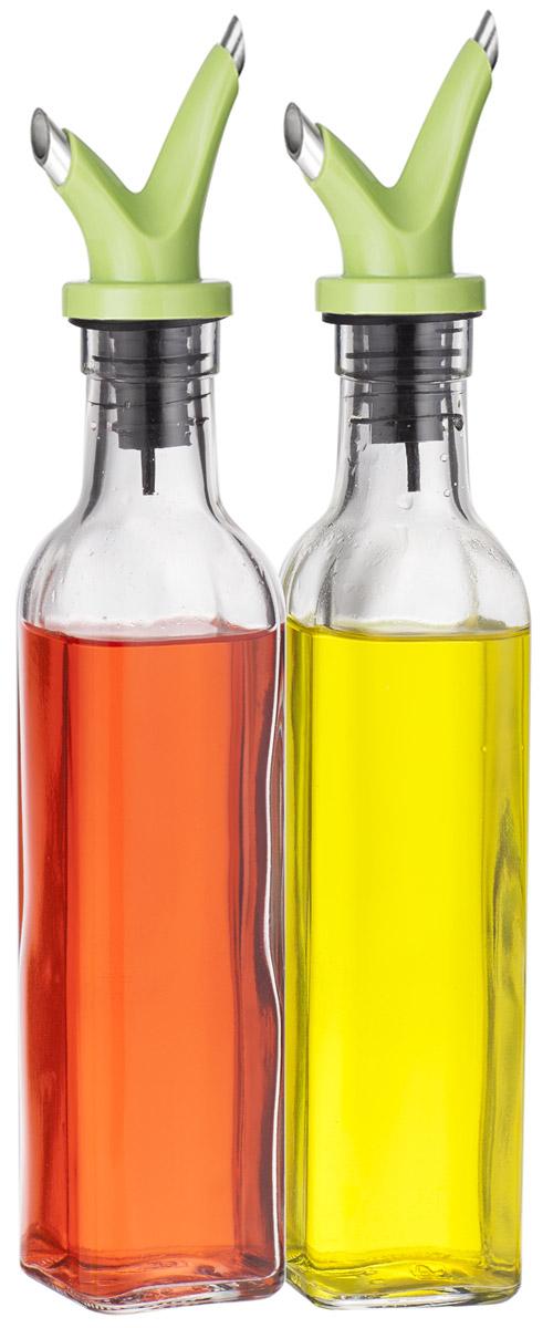 Набор емкостей для масла и уксуса SinoGlass, 250 мл78884005Набор SinoGlass состоит из 2 емкостей для хранения масла и уксуса. Изделия выполнены из прочного стекла. Специальный дозатор позволяет экономично расходовать продукт и не добавлять лишнего. Такой набор емкостей стильно дополнит интерьер кухни и прекрасно послужит для хранения масла и уксуса. Отличный подарок к любому случаю, который порадует любую хозяйку. Размер емкости: 27 х 5 х 5 см.