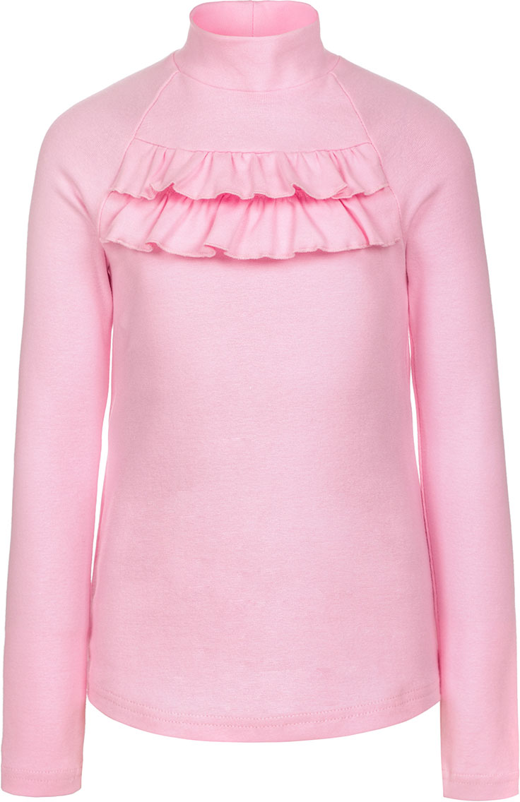Водолазка для девочки Nota Bene, цвет: розовый. CJR27035A05. Размер 140CJR27035A05Водолазка для девочки Nota Bene выполнена из хлопкового трикотажа. Модель с длинными рукавами и воротником-стойкой на груди декорирована рюшами.