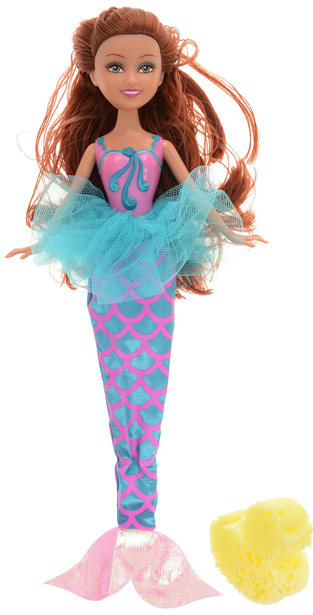 Funville Игровой набор с куклой Sparkle Girlz с утенком-губкой цвет наряда розовый бирюзовый