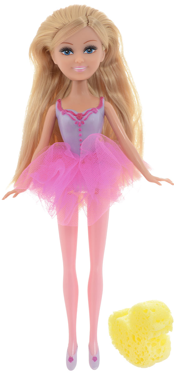 Funville Кукла Sparkle Girlz с утенком-губкой цвет наряда розовый