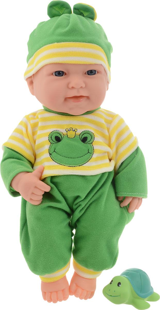 ABtoys Пупс Мой малыш с животным цвет одежды зеленый abtoys внедорожник инерционный цвет зеленый