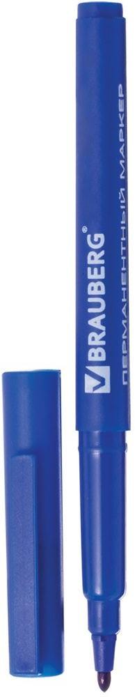 Brauberg Маркер перманентный ClassicLine цвет синий150297Перманентный маркер Brauberg ClassicLine предназначен для письма на любой поверхности.Заправлен водостойкими чернилами.Тонкий фетровый наконечник характеризуется повышенной износостойкостью.Цвет корпуса и колпачка соответствует цвету чернил.Ширина линии письма - 1 мм.