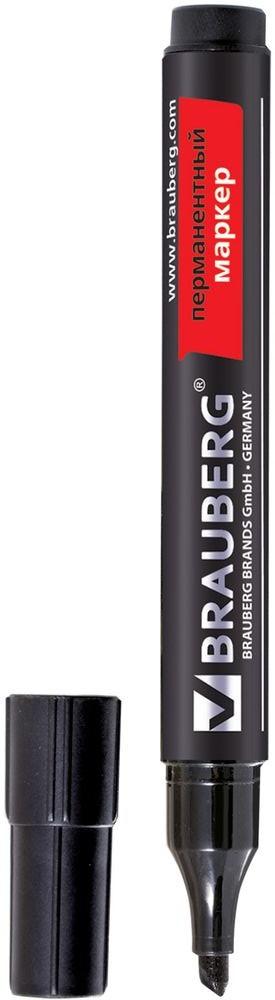 Brauberg Маркер перманентный Contract цвет черный calligrata маркер перманентный цвет черный