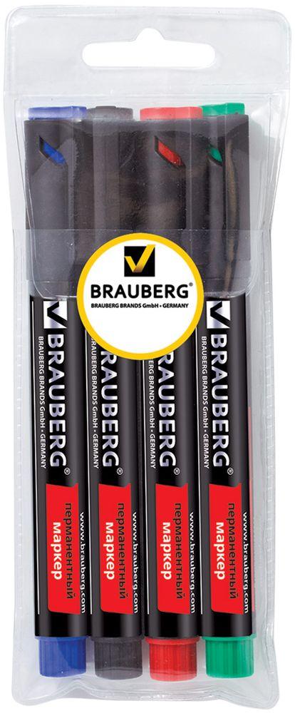 Brauberg Набор маркеров перманентных Energy 4 цвета150479Маркеры Brauberg Energy предназначены для письма на любой поверхности. Фетровый наконечник отличается повышенной износоустойчивостью, а чернила - яркими цветами и хорошей свето- и водоустойчивостью.Ширина линии письма - 3 мм. Круглый износоустойчивый наконечник. В наборе 4 перманентных маркера: черный, синий, красный, зеленый.Светоустойчивые и водостойкие чернила. Для письма на любой поверхности.Нестираемые.