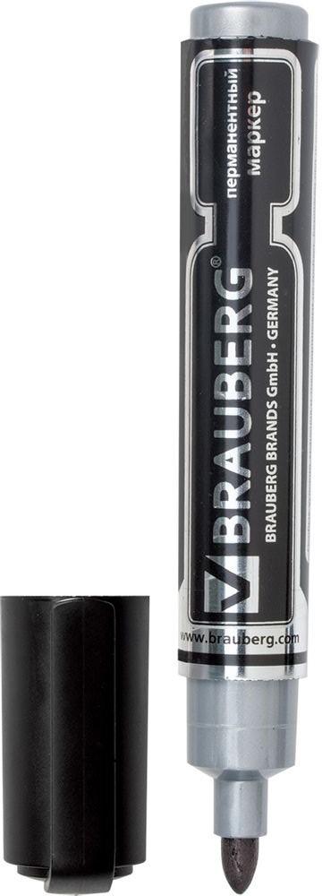 Brauberg Маркер перманентный Neo цвет черный150480Перманентный маркер Brauberg Neo предназначен для письма на любой поверхности.Заправлен яркими светоустойчивыми чернилами.Фетровый наконечник круглой формы прослужит дольше обычного.Маркер отличается стойкими к выцветанию чернилами на спиртовой основе, продленной линией письма и экономным расходом чернил.Ширина линии письма - 5 мм.