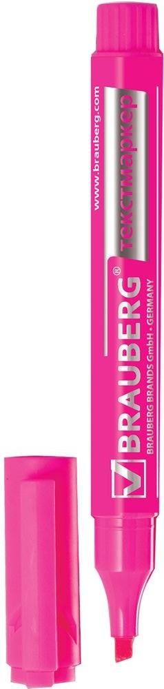 Brauberg Маркер Energy цвет розовый150484Маркер Brauberg Energy предназначен для выделения текста на бумаге любого типа, включая факс-бумагу.Заправлен светоустойчивыми чернилами, которые не выцветают даже на открытом солнце и не заметны при передаче текста по факсу.Прочный износоустойчивый наконечник скошенной формы позволяет проводить линии различной толщины.Ширина линии письма: 1-3 мм.Нестираемый.
