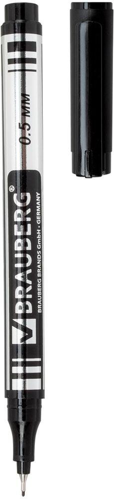 Brauberg Маркер перманентный Jet цвет черный150507Перманентный маркер Brauberg имеет супертонкий металлический наконечник. Супертонкий металлический наконечник высокого качества прослужит дольше обычного. Благодаря меньшему размеру, он экономно расходует чернила и наносит надписи там, где не справляются маркеры с более толстыми наконечниками.Ширина линии письма: 0,5 мм.