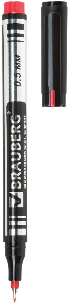 Brauberg Маркер перманентный Jet цвет красный150509Перманентный маркер Brauberg Jet предназначен для письма на любой поверхности.Заправлен быстросохнущими водостойкими чернилами.Супертонкий металлический наконечник высокого качества прослужит дольше обычного. Благодаря меньшему размеру он экономно расходует чернила и наносит надписи там, где не справляются маркеры с более толстыми наконечниками.Ширина линии письма - 0,5 мм.