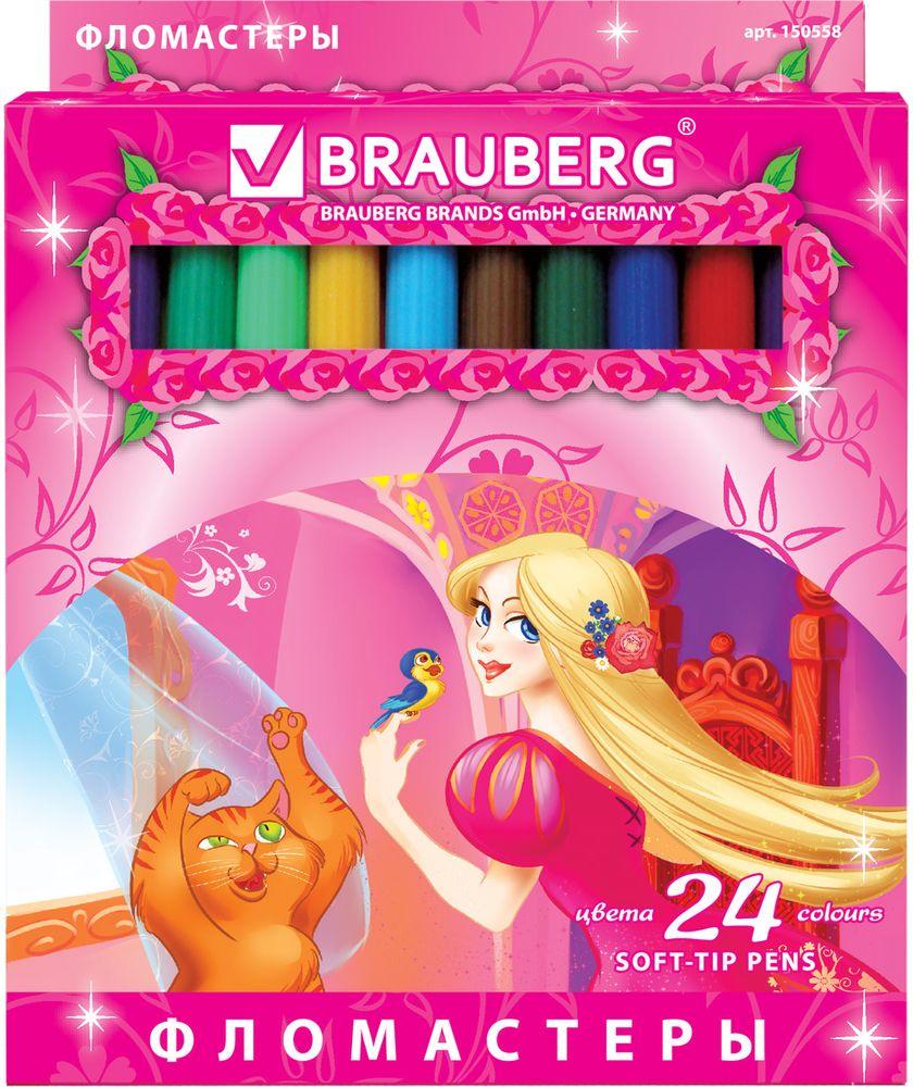 Brauberg Набор фломастеров Rose Angel 24 цвета -  Фломастеры