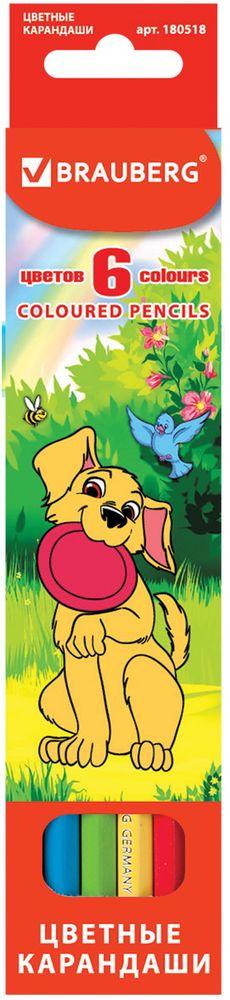 Brauberg Набор цветных карандашей My Lovely Dogs 6 цветов180518В набор Brauberg My Lovely Dogs входят 6 карандашей насыщенных цветов, изготовленных из древесины ценных пород.Карандаши имеют шестигранный корпус и мягкий грифель.Рисунок ляжет на бумагу густо, сплошной четкой линией.Легко затачиваются.