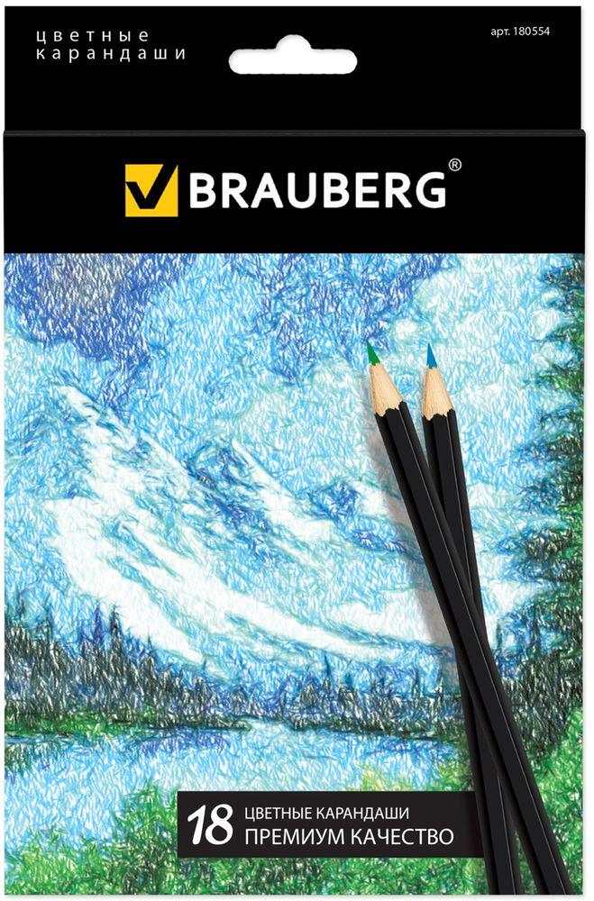 Brauberg Набор цветных карандашей Artist Line 18 цветов180554В набор Brauberg Artist Line входят 18 цветных карандашей премиум качества, изготовленных из древесины. Карандаши имеют шестигранный корпус. Снабжены грифелем, изготовленным по специальной рецептуре, что обеспечивает мягкость письма и насыщенность цветовой штриховки. Высокосортная древесина и качество исполнения гарантируют легкую заточку.